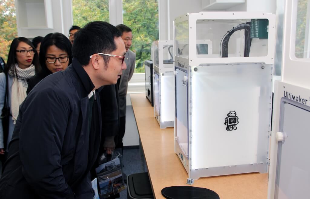 Chinesische Delegation zu Besuch am 3D Startup Campus NRW