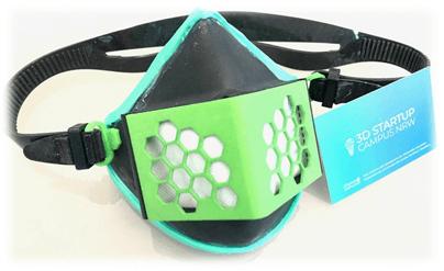 3D Start Up Campus NRW entwickelt eine neue Mund-Nasenschutz Maske