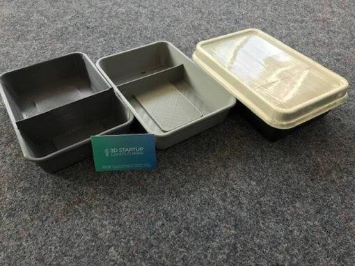 DishCircle: Funktionsprototypen für nachhaltige To-Go Behälter wurden in der 3D-Werkstatt mit Endprodukt-Look farbecht 3D gedruckt